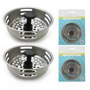 kitchen sink strainer basket. 2 Pc Stainless Steel Kitchen Sink Drain Strainer Basket Stopper Filter 3.1/5\