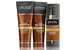 john frieda brilliant brunette visibly brighter subtle lightening shampoo and conditioner and in shower lightening treatment 15 90 19 90
