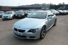 the old clic 2005 bmw m6 smg 2 door light blue