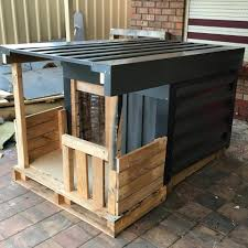 House Made From Pallets Pallet Dog House Kennel Instructions