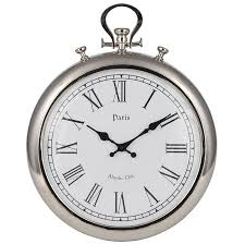 silver wall clock round wall clocks