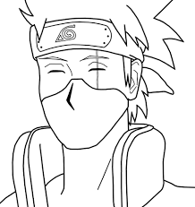 Kakashi Hatake From Naruto Coloring Page Free Printable Coloring Pages
