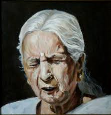 this amazing portrait is of famous classical singer girija devi the artist has painted this realistic painting with the help of acrylic color on canvas
