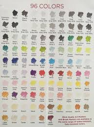 Blick Marker Color Chart Blick Color Chart In 2019 Brush Markers Copic Markers