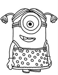 Minion Girl Despicable Me Coloring Pages Photos Cartoon At With