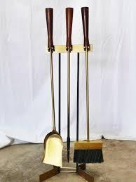 image of modern fireplace tools set