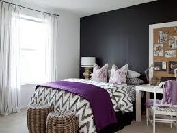 luxury bedroom furniture purple elements. Home Decor Bedroom Dark Gray Accent Wall Purple Elements Luxury Furniture