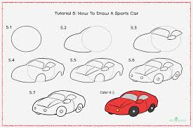 car drawing for kids step by step. How To Draw Sports Car With Pictures And Drawing For Kids Step By