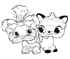 Littlest Pet Shop Coloring Pages Fish And Kitten Pepper A Free To Print
