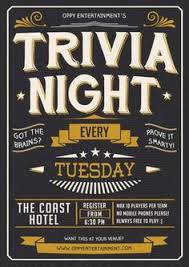 trivia night flyer templates quiz night poster template free google search cenny pinterest