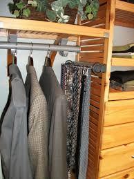 side mount tie belt rack for 16 deep john louis home closet organizer tower