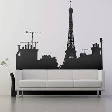 paris skyline view c wall decals