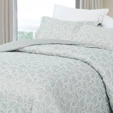 natural comfort luxurious cotton duvet cover mini set twin size in light blue