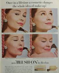 1950s makeup ad 1954 revlon blush