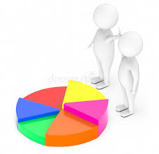 3d White People Team Pie Chart Stock Illustrations 97 3d