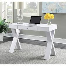 convenience concepts newport espresso white wood desk with drawer