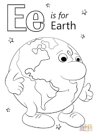 Small Picture Letter E is for Earth coloring page Free Printable Coloring Pages