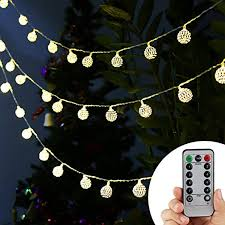 Mini Globe String Lights Battery Operated Accmor Globe String Lights Waterproof Remote 8 Modes 13ft