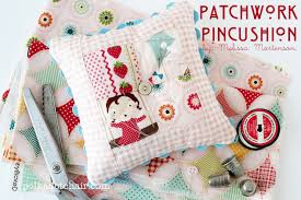 Patchwork Pincushion Tutorial - The Polkadot Chair & Free sewing pattern for a cute mini patchwork pincushion Adamdwight.com
