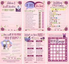 get ations 6 bridal shower games for guests 25 of each game bridal advice wishes