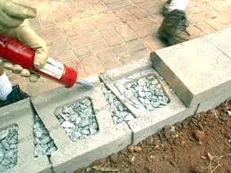is small concrete retaining wall blocks
