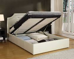 beautiful king size platform bed frame with storage including white ideas