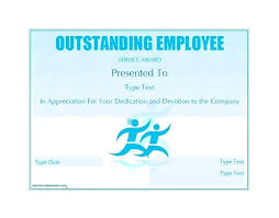 Employee Of The Year Certificate Template Free Free Award Template Employee Of The Year Certificate Wording