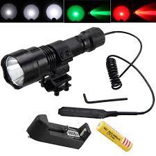 <b>Tactical Led</b> Hunting Light 5 Color DIY 3 IN 1 <b>LED Flashlight</b> Lamp ...