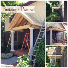 how to build a front doorBuilding a Portico the roof is up  Porticos Curb appeal and Columns