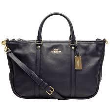 Coach F55662 Central Satchel Handbag Pebble Leather Midnight Navy   eBay