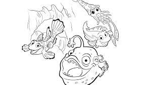 One Fish Two Fish Red Fish Blue Fish Coloring Pages In The Ocean ...