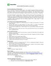 Banking Skills For Resume 24 Investment Banking Analyst Resume Sample Resume Template Info 14