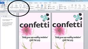 How To Make Wedding Invitation In Microsoft Word Filename Naples