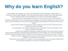 Essay About Learning English Language Thesis About Learning English Language