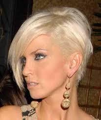 Krásny Asymetrický účes Asymetria Vlasov Foto