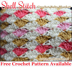 Easy Crochet Baby Blanket Patterns Gorgeous Easy Crochet Shell Stitch Baby Blanket Free Pattern Knitting And