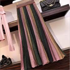 <b>Qooth</b> 2019 New <b>Skirts</b> Designer Runway Summer <b>Women</b> Knitted ...