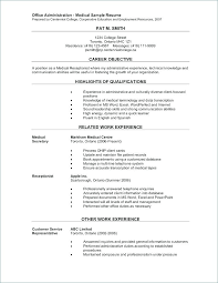 Sample Resumes For Receptionist Resume Gym Receptionist Front Desk