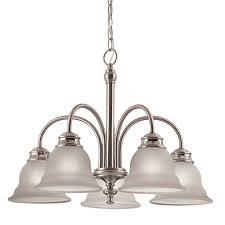 project source fallsbrook 5 light brushed nickel chandelier