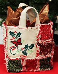 Best 25+ Quilted christmas gifts ideas on Pinterest | Quilted ... & Free project instructions to make an embroidered rag quilt Christmas gift  bag Adamdwight.com