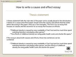 ideas for a cause and effect essay another reason to write your own college essay bs md writing lab