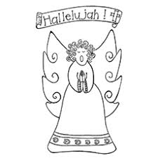 Top 10 Free Printable Cheerful Angel Coloring Pages Online