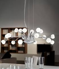 extraordinary white modern chandelier opal glass light