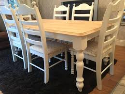 shabby chic dining table and 6 chairs gorgeous shabby chic chunky oak farmhouse table and 6