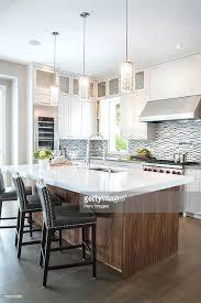 kitchen pendant lighting over island. Island Pendant Lights Kitchen Over Modern Long Wood Stock Photo . Lighting