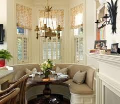 Breakfast Nook Window Treatment Ideas Dining Room Traditional With - Bay window in dining room
