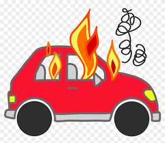 car with flames clipart. Delighful Flames Cars On Fire Png Clipart  Cartoon Car Throughout With Flames P