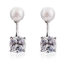 New <b>Ms</b>. fashion silver <b>jewelry</b> sparkling crystal <b>earrings</b> hanging ...