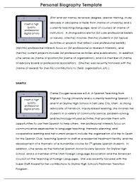 Personal Bio Sample Template Word Personal Bio Template Short Job