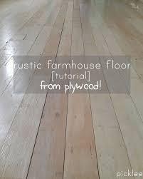 plywood floor tutorial
